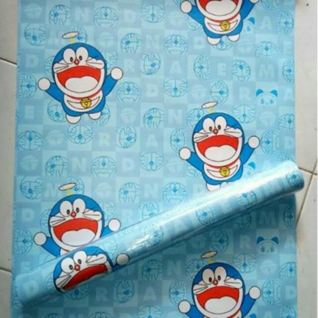 wallpaper sticker doraemon 10meter, home & furniture on carousell