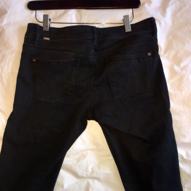 Zara black skinny jeans size 44