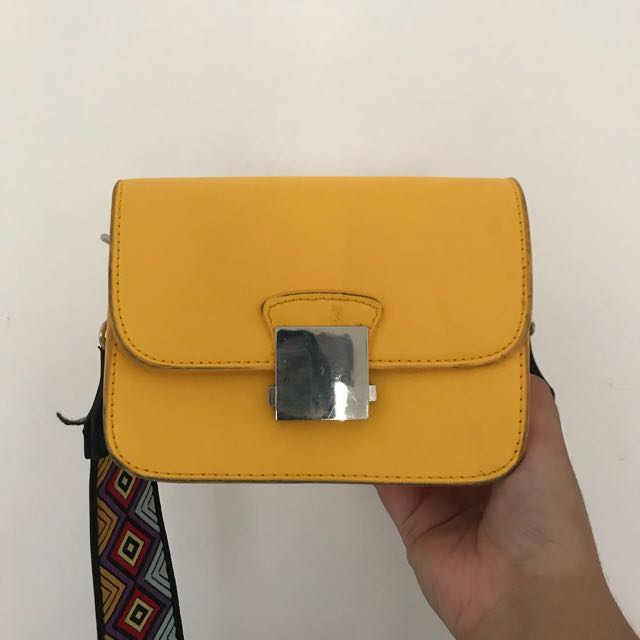 ZARA Crossbody Bag with Multicolored Strap