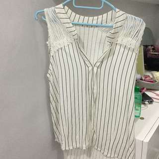 Stripes Sleeveless Top