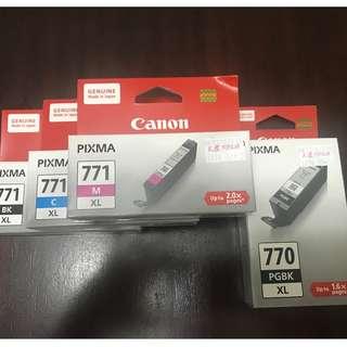 New - Canon Inkjet Cartridges (770 & 771) selling cheap