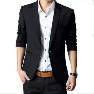 Korean Men's Black Blazer