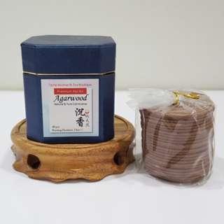 Premium Hoi An Agarwood Coil Incense (2hrs+/-)