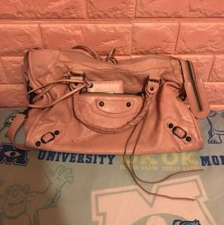 Balenciaga dirty pink bag