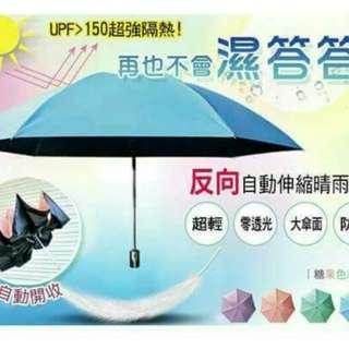 🚚 自動反向收晴雨傘
