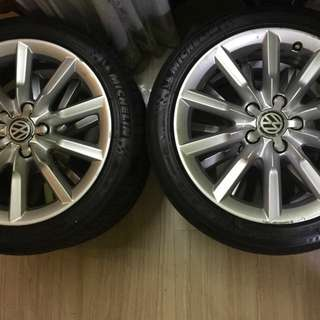 """Sets of 4peices 17"""" tyres & rims 112x5"""