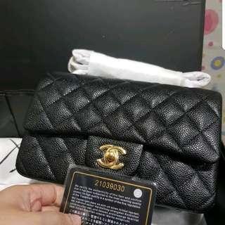 Chanel Classic Caviar Size 20 GHW