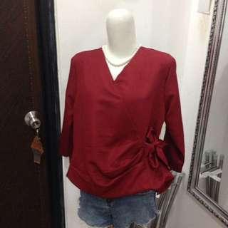 new, red kimono
