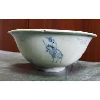 Buy 2 get 1 free, purchase any 2 items and get 1 free,  Genuine Ming Dynasty blue and white Gao Shi travel porcelain bowl 1,  used for study Ming Dynasty blue and white porcelain, 真品明代青花高仕出游瓷碗 1, 供学习研究明代青花瓷器用