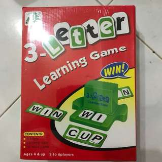 Educational 3-letters learning game