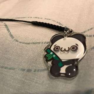 Panda handphone charm