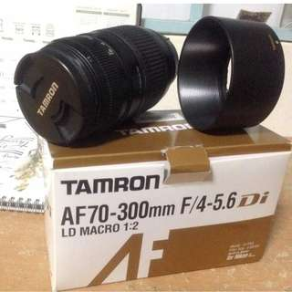 TAMRON AF70-300mm F/4-5.6 LD MACRO 1:2 LENS FOR NIKON DSLR