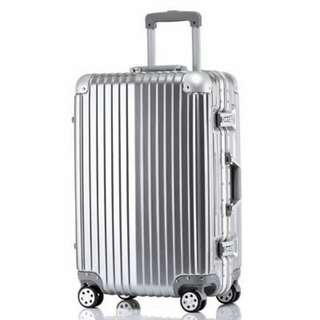 "20"" Aluminum zipper less luggage"