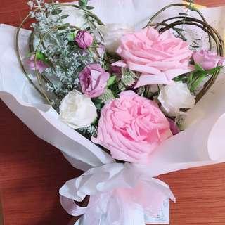 多款情人節韓式花束