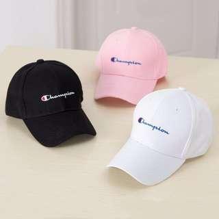 Black Champion snapback cap