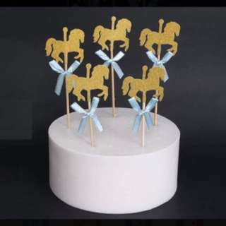 Birthday Cake or cupcake horse Topper