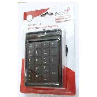 Genius外置 Slim number pad keypad i110 USB 數字鍵盤