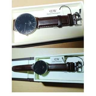 全新正貨 Daniel Wellington DW Watch 深咖啡色手錶 36mm #情人節禮物