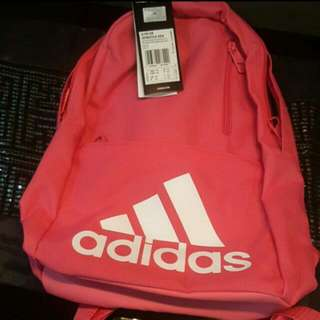 New Adidas Kids Backpack Bag Pink