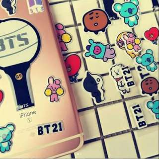 Preorder - BTS STICKER •choose (A/B/C) exc.pos