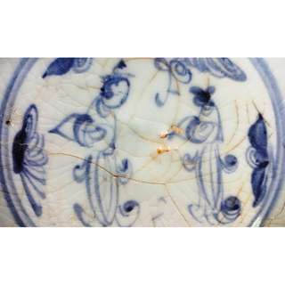 Genuine Ming Dynasty blue and white ladies character porcelain plate 1, very brilliant of the blue color, used for study Ming Dynasty blue and white porcelain , 真品明代青花仕女人物瓷盘 1, 供学习研究明代青花瓷器用