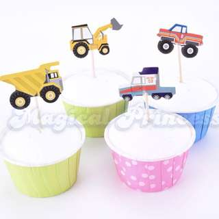 Construction vehicle Cupcake Toppers