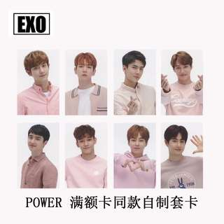 EXO POWER UNOFFICIAL PHOTOCARDS
