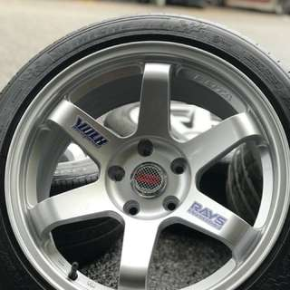 Te37sl 17 inch sports rim civic fb tyre 70%