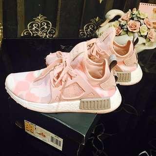 Adidas NMD 愛迪達專櫃正貨 真品 粉紅色 迷彩 豹紋款 女運動鞋