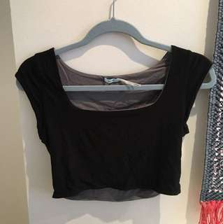 Urban outfitters fitted black crop