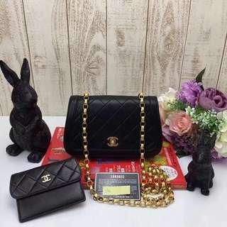 Chanel 羊皮一套兩件連小錢包