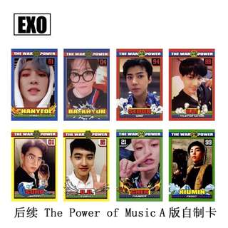 EXO POWER OF MUSIC UNOFFICIAL PHOTOCARDS (VER. A)