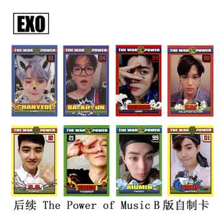 EXO POWER OF MUSIC UNOFFICIAL PHOTOCARDS (VER. B)