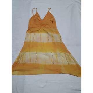 Orange maxi beach dress