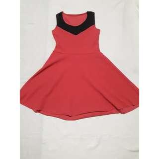 Fuschia pink mini dress