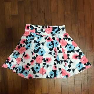 H&M Floral Skater Skirt