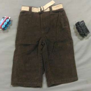 Old Navy Brown Corduroy Pants with Belt