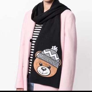 Moschino Bear Scarf (黑/白/灰)
