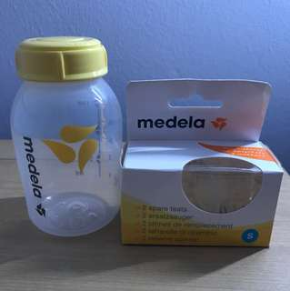 Medela teats S size & bottle 150ml