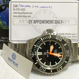 Deepblue Master 2000 Swiss Automatic Limited Edition (Black-Orange) 1000PCS worldwide