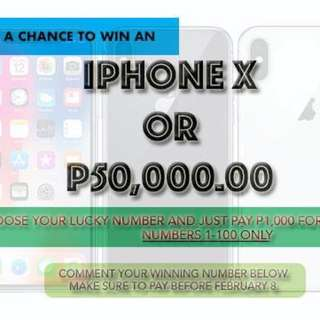 iPhone X Raffle