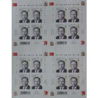 Clearance: 2000 Singapore Stamp - Yusof Bin Ishak $2 (4 X 4 Stamps Sheet)