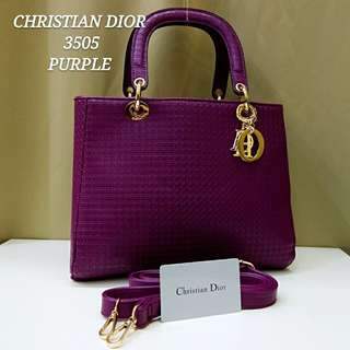 Dior Cannage Bag Purple Color