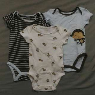Bundle: Take All 3 Child of Mine x Carter's Onesies, 3mos