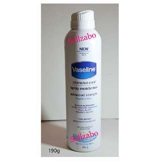 Spray : Vaseline Intensive Care Moisturiser Advanced Strength Sensitive Very Dry Skin Body Sellzabo Lotion Moisturizer Moisturising Moisturizing