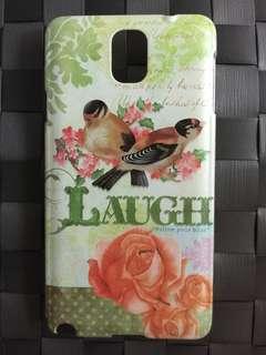 英國 正品品牌  彩繪隨心快樂 保護手機硬殼 Samsung Note 3 Laugh  蝕本價$80 * 只得一件
