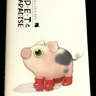 Pet Paradise - Cute Little Pets (Piglet Collection) A5 Notebook
