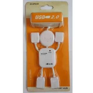 機器人形 人仔 公仔 電腦 USB 分插器 USB ports 白色