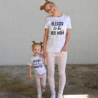 Mom & Daughter Blessed Tshirt