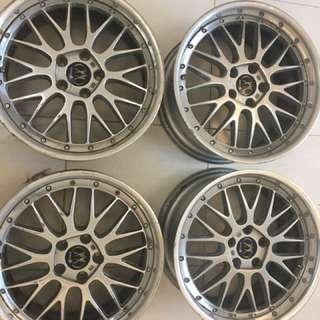Algernon Intelesse (by Enkei) 18 inch Rims Mags Tires